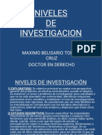 Niveles de Investigacion Power