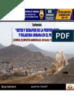 Tema - Retos y Desafios de La Perforacion y Voladura Urbana en El Peru - Fredy Ponce _minas - Unsch (Ppt)
