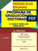 Curso Seminario de Tesis Doctorado Alas Peruanas