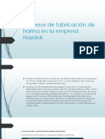 Procesos de Fabricación de Harina en La Empresa hdk