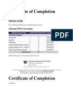 certificate of completion std