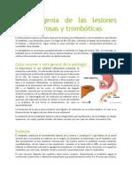 Fisiopatogenia de Las Lesiones Aterosclerosas y Trombóticas