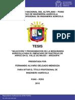 Seleccion y Prgramacion de Maquinaria Agricola