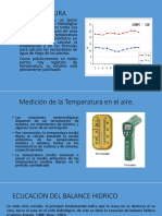 Temperatura, Radiacion Solar