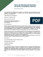 Ley Organica de Prevencion Integral Fenomeno Socio Economico Drogasd