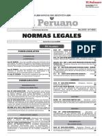 Normas Legales peruanas Del Día 05 de Julio Del 2018