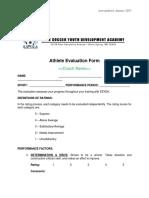 Athlete Evaluation