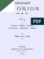 Varela, Hector Florencio (Orión) - Almanaque de Orion 1875