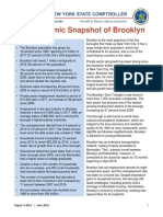 State Comptroller Tom DiNapoli Economic Snapshot of Brooklyn June 2018