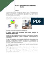 Administración Del Conocimiento Para La Empresa Digital 1