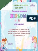 Diploma Preescolar Editable Muestra 2