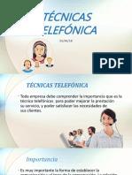 Técnicas Telefónica comunicacion empresarial