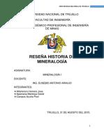 Historia de La Mineralogía