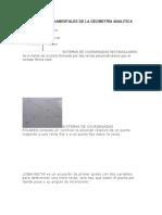 Elementos Fundamentales de La Geometría Analítica