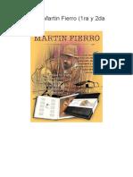 Resumen Martin Fierro (1ra y 2da Parte)