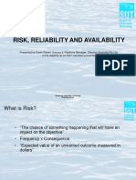 USB - Ewan Rowell - Risk Reliability and Availability