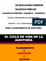Planemaineto de Auditoria 2018