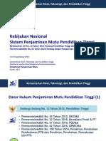 1. Kebijakan Nasional SPM Dikti
