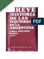 RAMOS JORGE ABELARDO. Breve Historia de Las Izquiedas en La Argentina