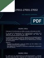 Normas ISO especializadas a seguridad - 2018