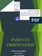 Programme Parent Orientation