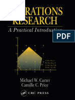 [Operations Research Series] Michael W. Carter, Camille C. Price - Operations Research_ a Practical Introduction (2001, CRC Press)