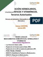 Registro Prorroga y Modif de Herb Homeop y Vit Terceros