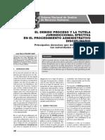 Debido Proceso y Tutela Efectiva en El Procedimiento Administrativo Disciplinario - Autor José María Pacori Cari