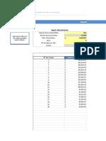 Planilla de Excel Amortizacion Sistema Aleman y Frances