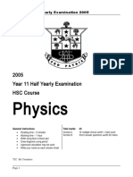 Phys Yr11 HYrly Exam 05 (1).doc