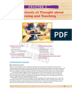 Three Schools of Thought about Learning and Teaching