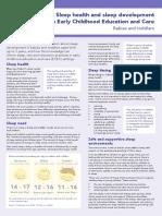Factsheet Sleep Infants Toddlers