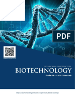 Biotechnology 2018 Conference Brochure