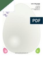 Easter Letterhead Big Egg