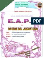Informe de Laboratorio de Circuitos Analogicos y Laboratorio