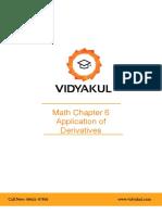 NCERT Solutions Class 12 Maths Chapter 6 Application of Derivatives