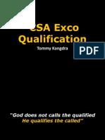 PhpTOORIxCSA Exco Qualification