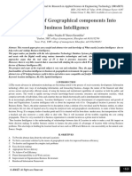 Integration of Geographical components Into Business Intelligence