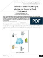 Security Architecture to Enhanced Privacy of Communication and Storage in Cloud Environment
