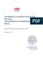 Combatting Corruption Among Civil Servants - Interdisciplinary Perspectives on What Works