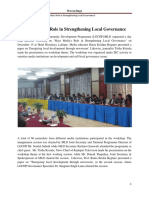 Mass Media's Role in Strengthening Local Governance - 2010