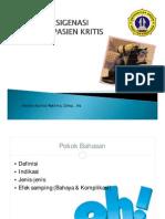Oksigenasi Pada Pasien Kritis (Oxygenation for Critical Patient)