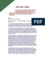 RA-4054 Philippine Rice Share Tenancy Act