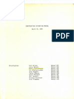 0- Construction Estimating Manual - 1985