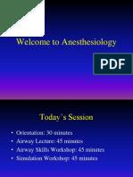 Orientation to Anesthesia