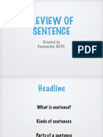 Review of Sentence