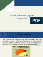 Control of VOC