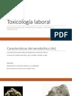 Toxicología laboral - Arsenico