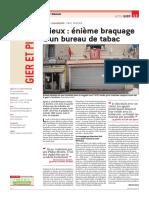Enième braquage d'un bureau de tabac à Saint-Chamond