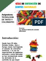 Clase1-Tecnologías de Obtención de Pigmentos Naturales